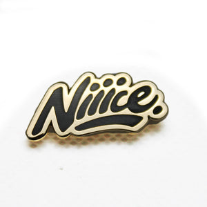 Niiice Lapel Pin Black Gold