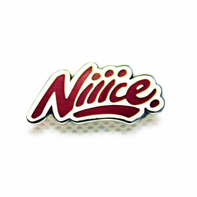 Niiice Lapel Pin Red