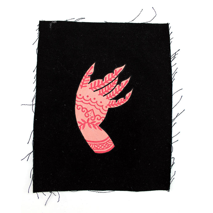 'Mudra Hand' hand painted Patch