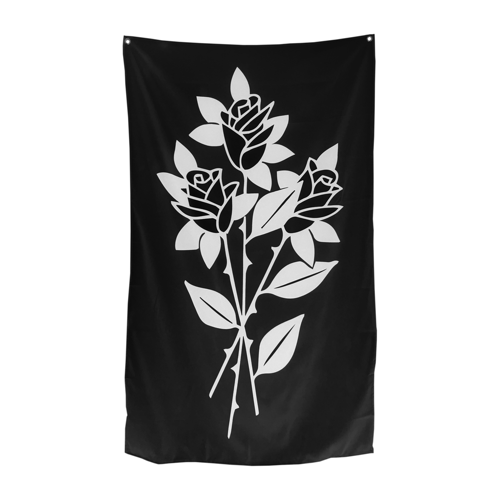 Ball and Chain Co. Black Roses Tapestry