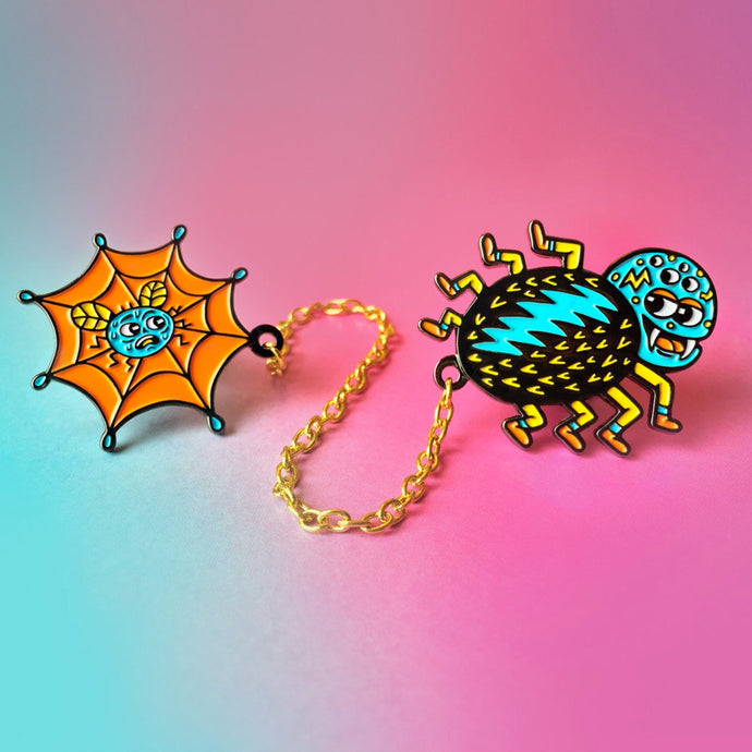Killer Acid - Old ass web Lapel Pin set