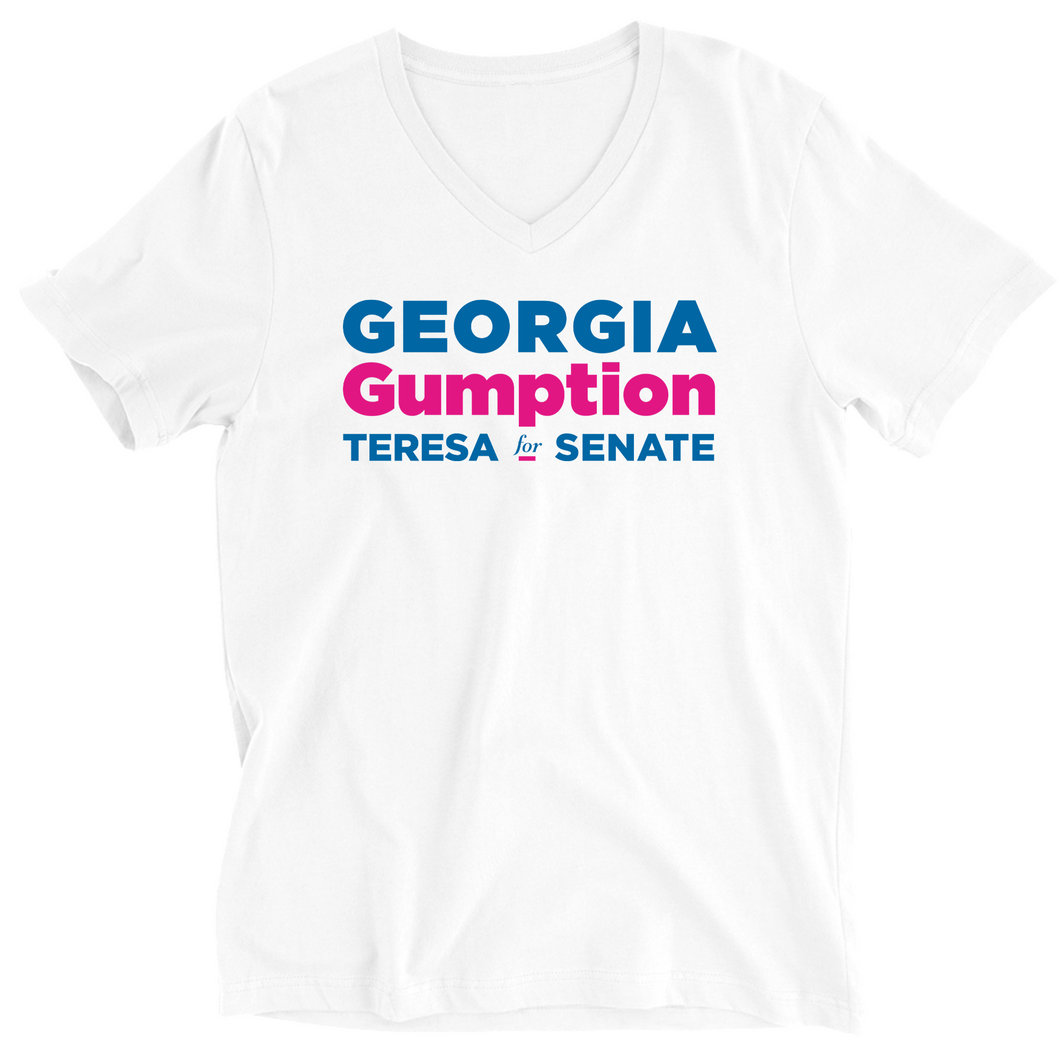 Teresa Tomlinson Georgia Gumption V-neck T-Shirt