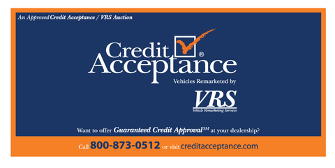 VRS Credit Acceptance Decal