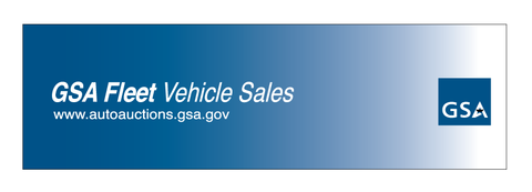 GSA Fleet Vehicle Sales Decal