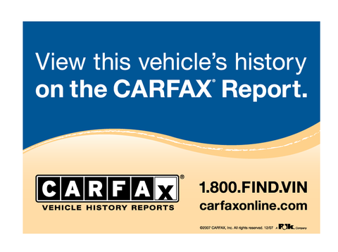CARFAX Report Decal