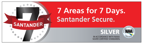 Santander 7 Day NAAA Decal