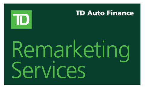 TD Auto Finance Remarketing Services Decal