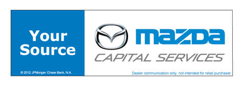 Mazda Capital Services Your Source Chase Decal Flywheel Brands