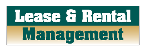 Lease & Rental Management Decal
