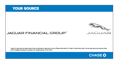 Jaguar Financial Group Your Source Chase Decal