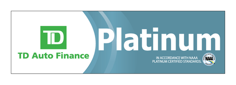 TD Auto Finance NAAA Platinum Decal