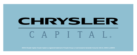 Chrysler Capital Decal