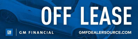 GM Financial Off Lease Decal