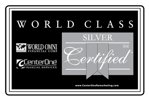 World Omni Silver Certified Topper