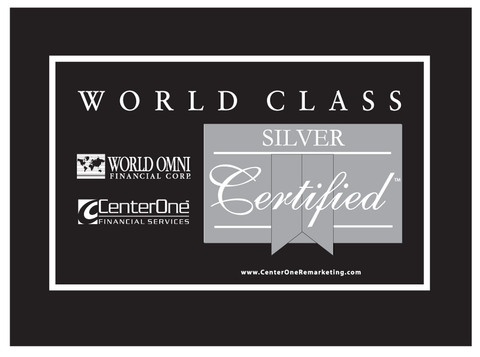 World Omni Silver Certified Car Flag
