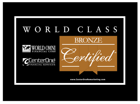 World Omni Bronze Certified Car Flag