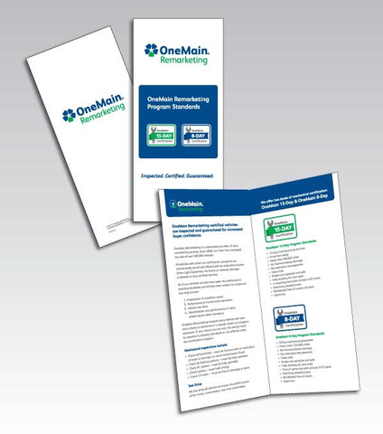OneMain Remarketing Certified Brochure