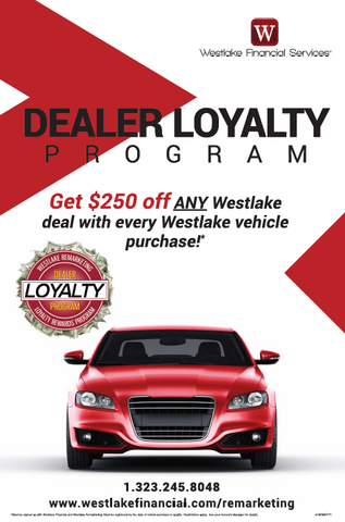 Westlake Remarketing Dealer Loyalty Poster