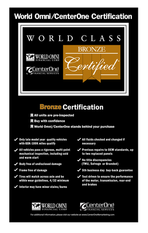 World Omni Bronze Certification Banner