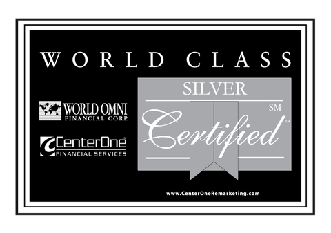 World Omni Silver Certified Banner