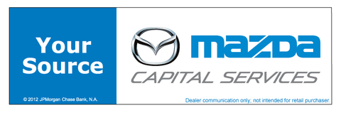 Mazda Capital Services Your Source Chase Lane Banner