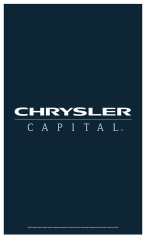 Chrysler Capital Lot Banner