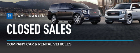 GM Financial Closed Sales Banner