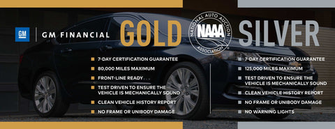 GM Financial NAAA Gold/Silver Banner