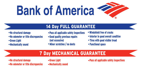 Bank of America Guarantee Banner