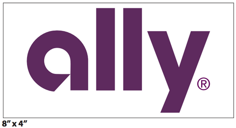 "Ally 8x4"" Decal"