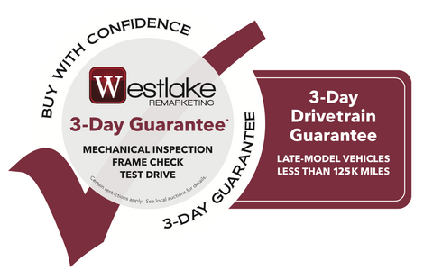 Westlake Remarketing 3-Day Guarantee Decal 2020