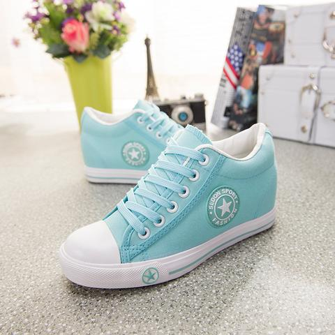 Latest GOSKATER WEDGES CANVAS TRAINERS FOR WOMEN - we the online store