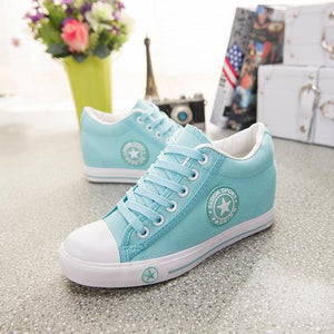 Latest GOSKATER WEDGES CANVAS TRAINERS FOR WOMEN