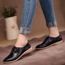 Load image into Gallery viewer, The best flats leather shoes for women - we the online store- The best Shoes & Clothing Store