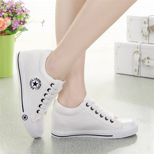 Latest GOSKATER WEDGES CANVAS TRAINERS