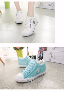Latest GOSKATER WEDGES CANVAS TRAINERS FOR WOMEN - we the online store- The best Shoes & Clothing Store