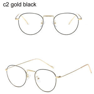 2019 Round Clear Lens Computer Glasses Spectacle Frames Anti Blue Light Goggles Anti Glare Eyeglasses Frame for Women - we the online store- The best Shoes & Clothing Store