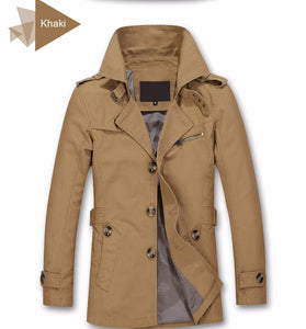 Top Quality Long Jacket Overcoat for Men - we the online store- The best Shoes & Clothing Store
