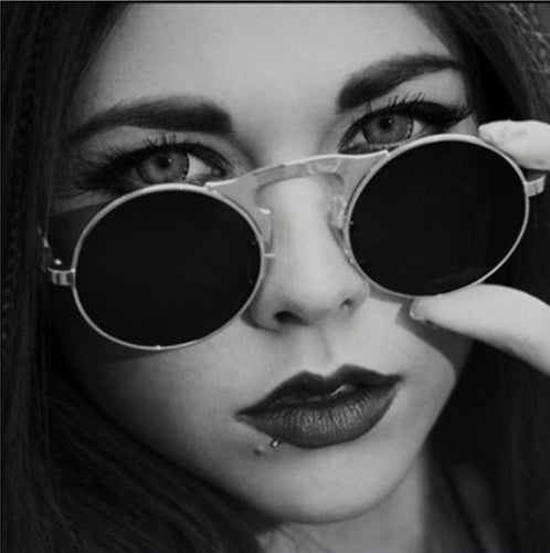 Amazing UNISEX 2019 Steampunk Retro Round frame Sunglasses - we the online store- The best Shoes & Clothing Store