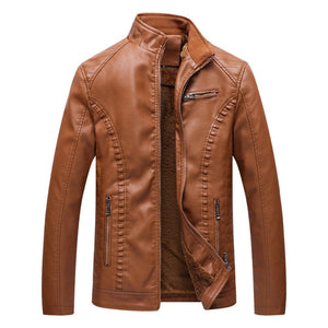 The Best 2018 New Men Motorcycle Keep warm Winter Leather jackets for Men - we the online store- The best Shoes & Clothing Store