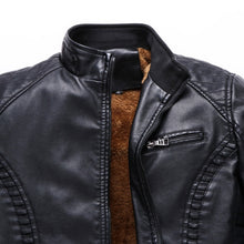 Load image into Gallery viewer, The Best 2018 New Men Motorcycle Keep warm Winter Leather jackets for Men
