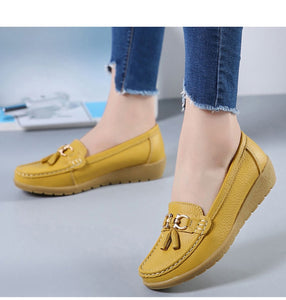 The Best 2019 Pure Leather Ballet Flats Cut Out Shoes for women - we the online store