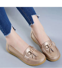 Load image into Gallery viewer, The Best 2020 Pure Leather Ballet Flats Cut Out Shoes for women - we the online store- The best Shoes & Clothing Store