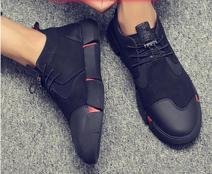 NEW Brand High quality all Black Men's Leather Sneakers 2020 - we the online store- The best Shoes & Clothing Store