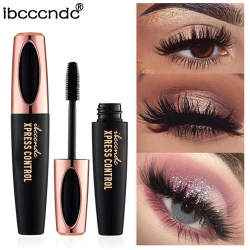 New Waterproof 4D Silk Fiber Lash Mascara  Rimel 3d Mascara For Eyelash Extension Black Thick Lengthening Eye Lashes
