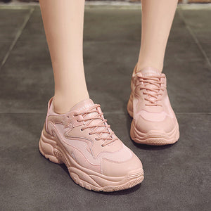 Best 2020 Pink Vulcanize Chunky Sneakers for Women - we the online store- The best Shoes & Clothing Store