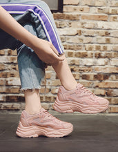 Load image into Gallery viewer, Best 2019 Pink Vulcanize Chunky Sneakers for Women
