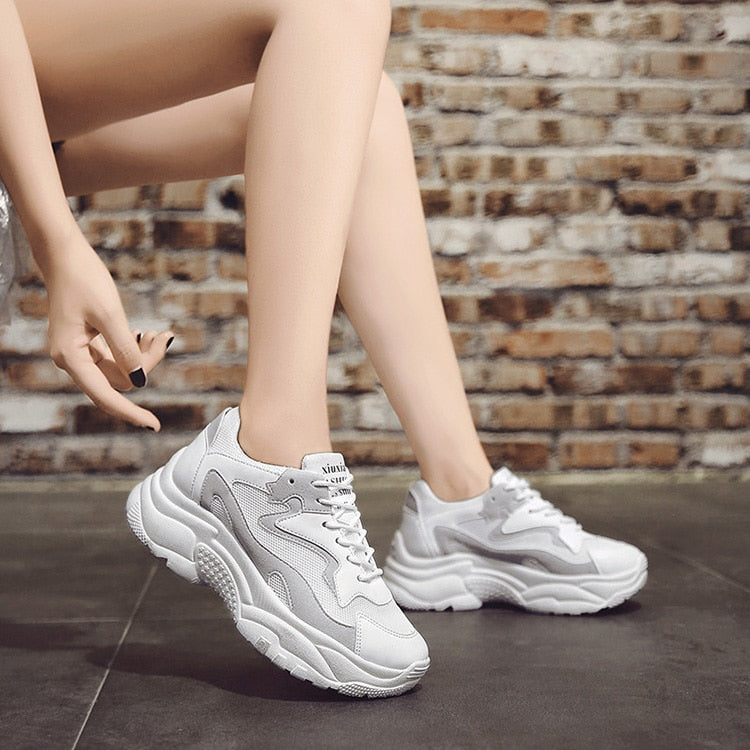 2020 Pink Vulcanize Chunky Sneakers for