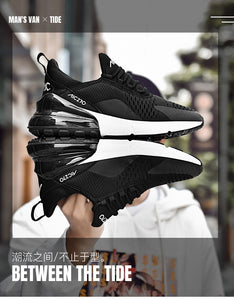 New Arrival 2019 High Tech Damping Flyknit Breathable Men Sneakers