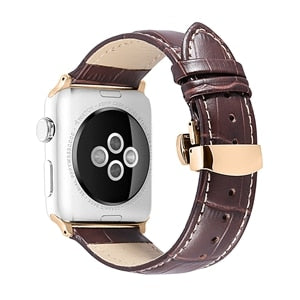 Latest Black Brown Calf Watch Strap for iWatch Series 4 Series 3 2 for Apple Watch Band - we the online store- The best Shoes & Clothing Store